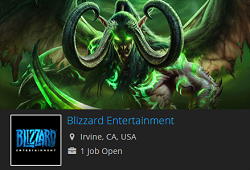 blizzard entertainment job